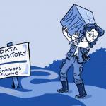Data sharing cartoon