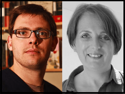 Tom Chatfield and Elspeth Timmans