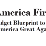 First page of Trump budget plan