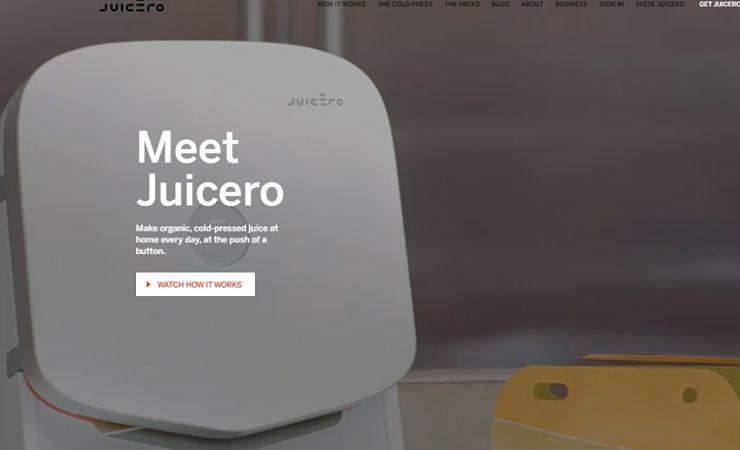 Juicero website screen capture
