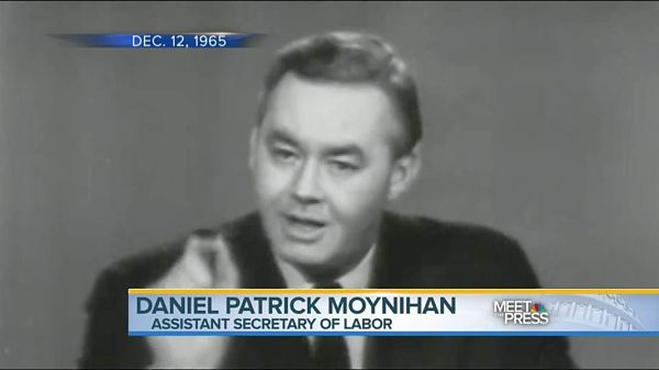 A young Daniel Patrick Moynihan discusses his landmark report on African American families in 1965,