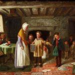Old painting of schoolroom_opt