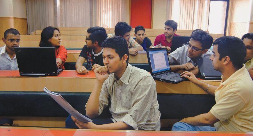 University students in classroom